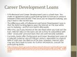 career development loans