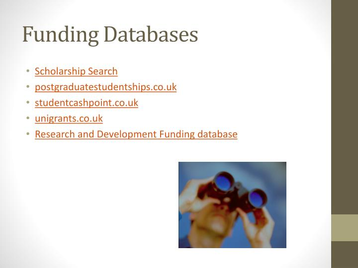 Funding Databases
