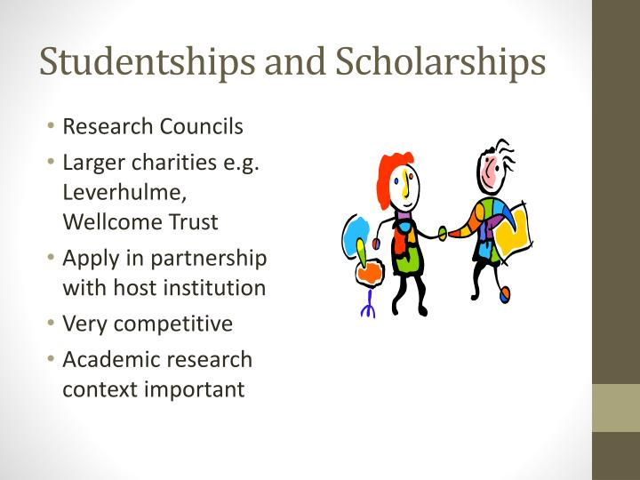 Studentships and scholarships