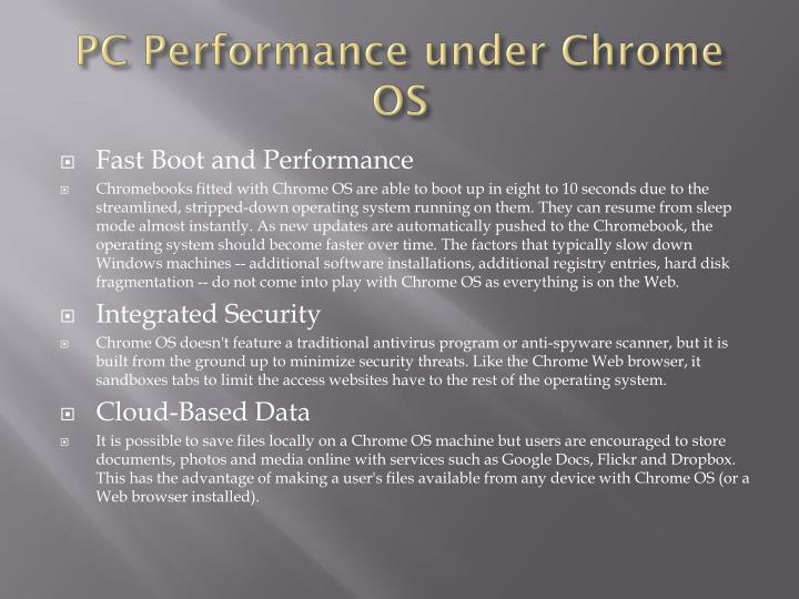 PC Performance under Chrome OS