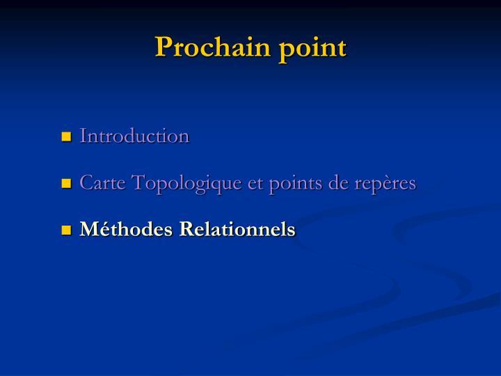 Prochain point