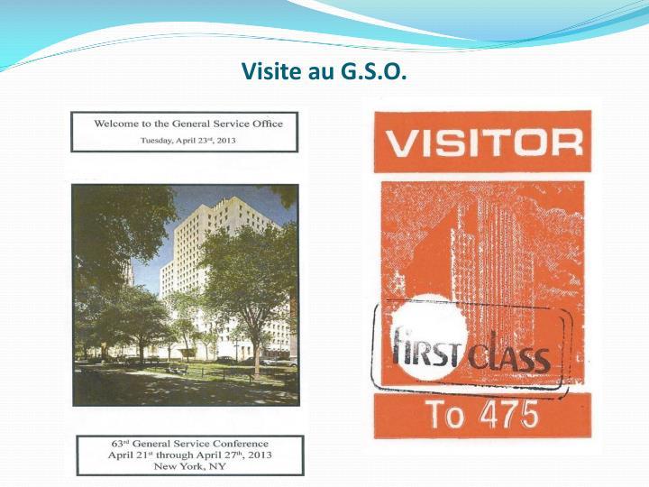 Visite au G.S.O.