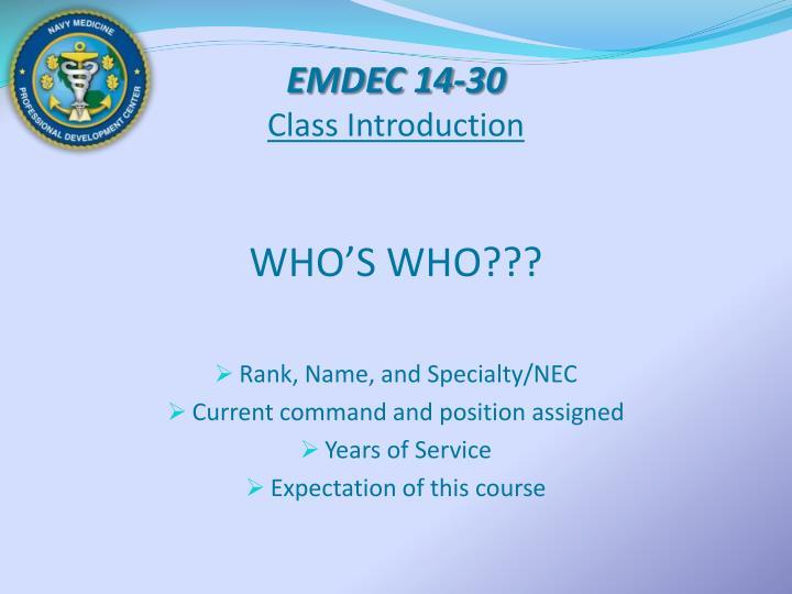 EMDEC 14-30
