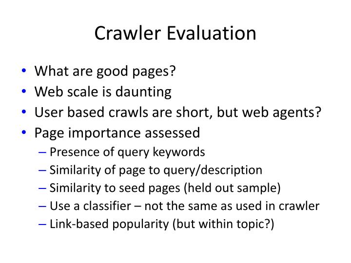 Crawler Evaluation
