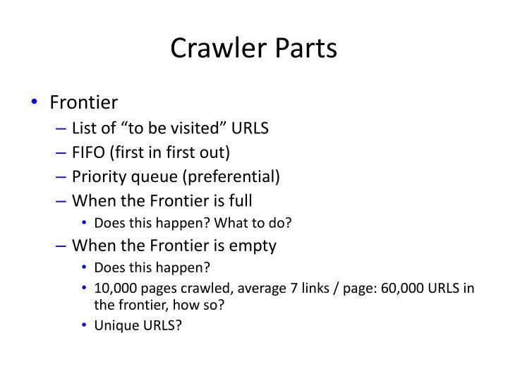 Crawler Parts