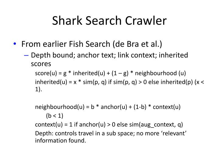 Shark Search Crawler