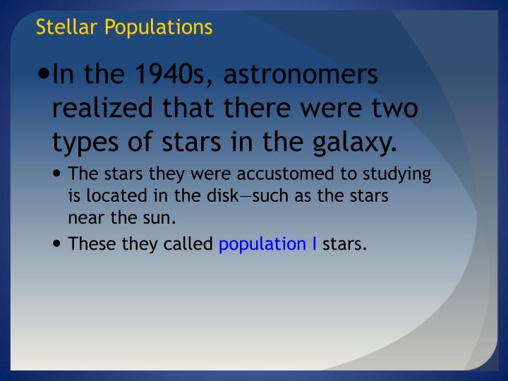 Stellar Populations