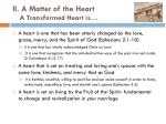 a transformed heart is