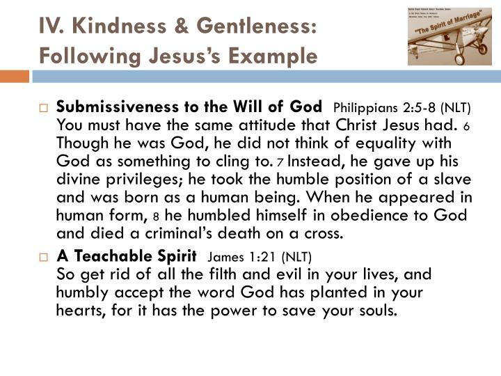 IV. Kindness & Gentleness: