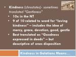 kindness in galatians means