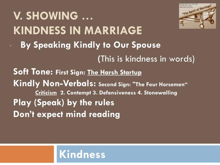 By Speaking Kindly to Our