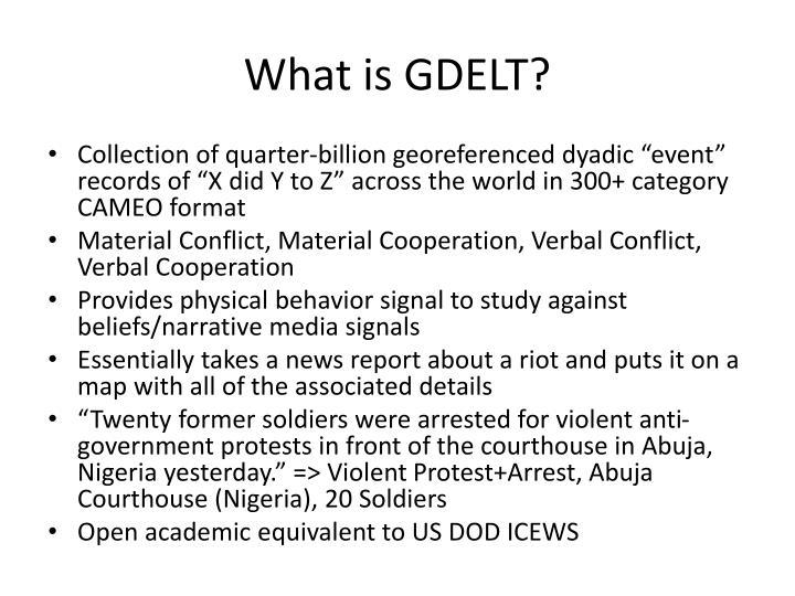 What is GDELT?