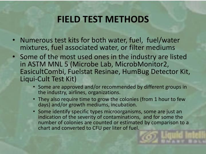 FIELD TEST METHODS