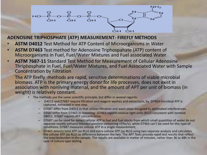 ADENOSINE TRIPHOSPHATE (ATP) MEASUREMENT- FIREFLY METHODS