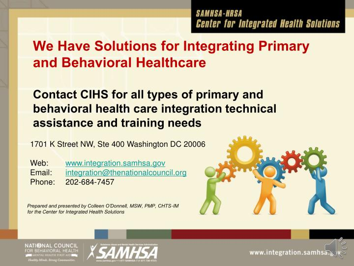 We Have Solutions for Integrating Primary and Behavioral Healthcare