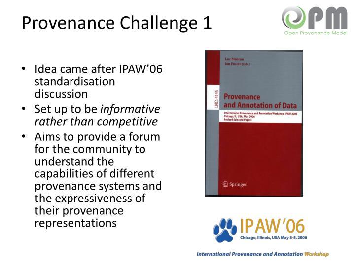 Provenance Challenge 1