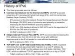 history of ipv61