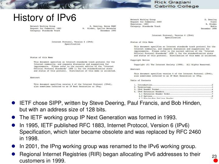 History of IPv6