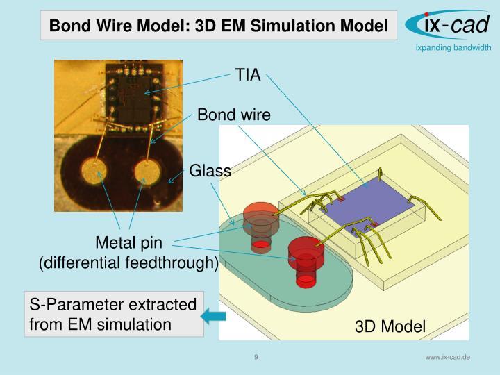 Bond Wire Model: 3D EM Simulation Model