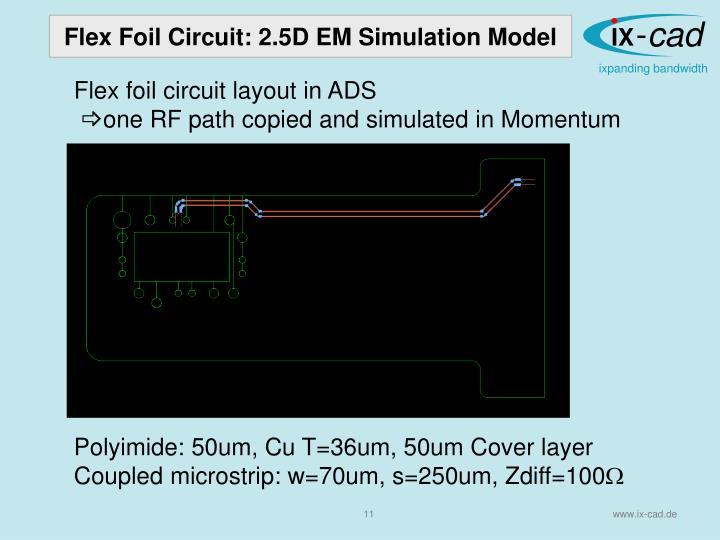 Flex Foil Circuit: 2.5D
