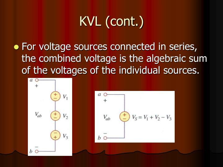 KVL (cont.)