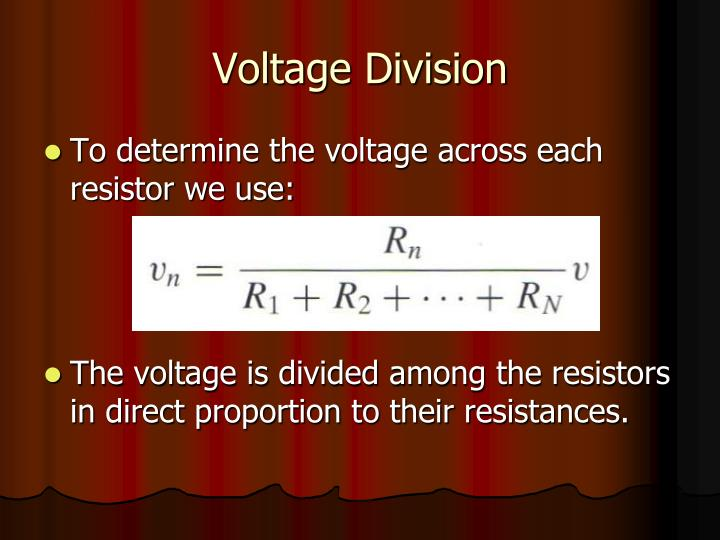 Voltage Division