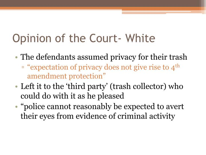 Opinion of the Court- White