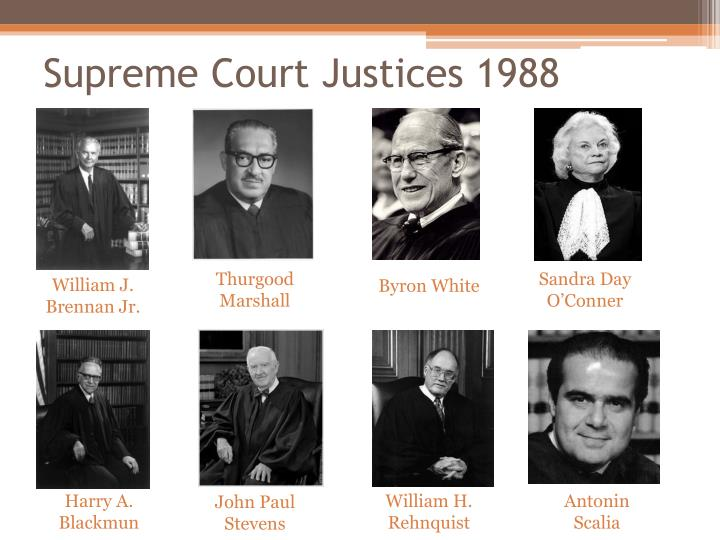 Supreme Court Justices 1988