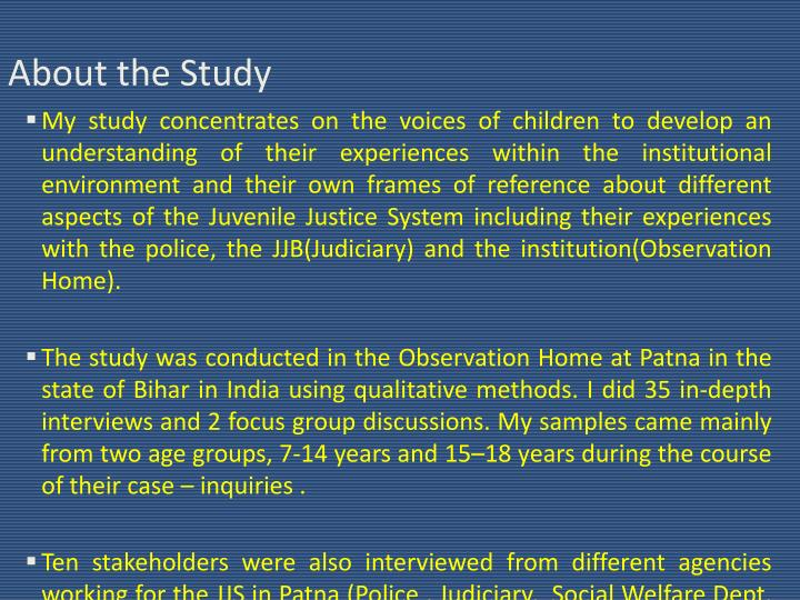 About the Study