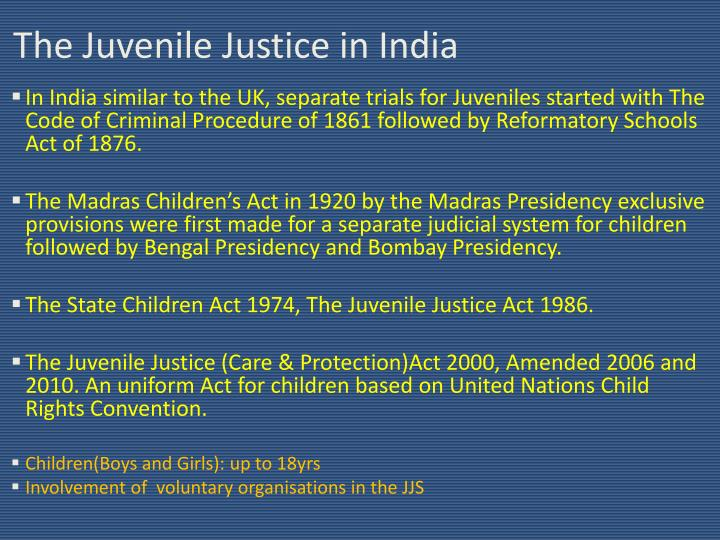 The juvenile justice in india