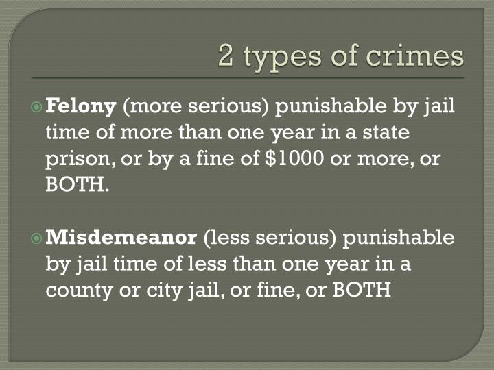 2 types of crimes