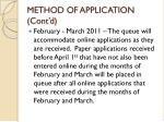 method of application cont d1