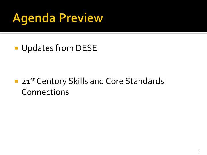 Agenda Preview