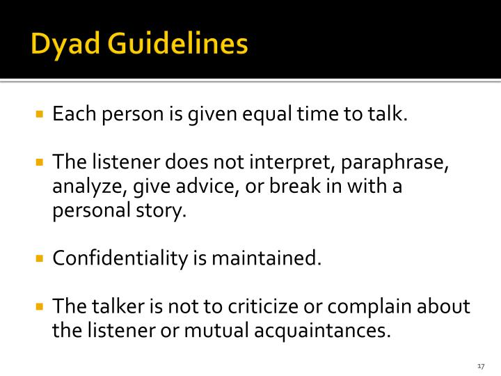 Dyad Guidelines