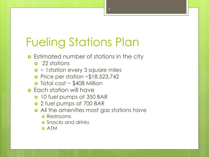 Fueling Stations Plan