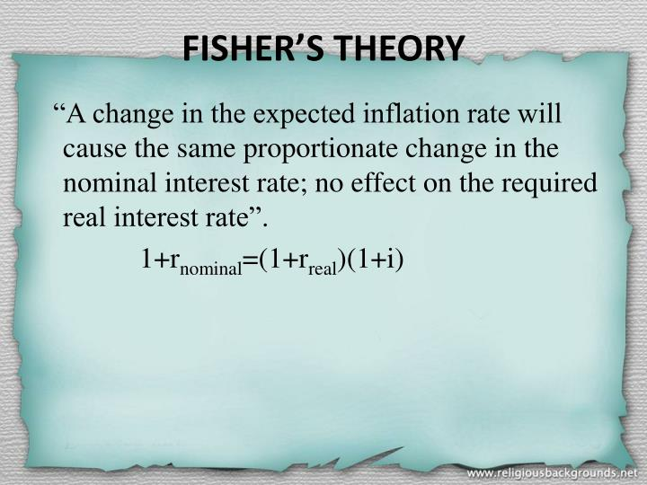 FISHER'S THEORY