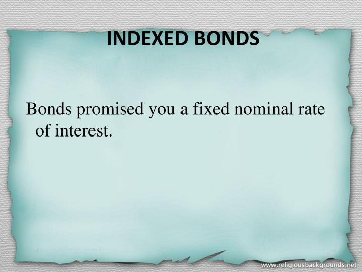 INDEXED BONDS