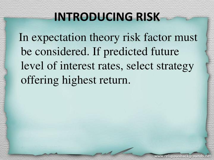 INTRODUCING RISK