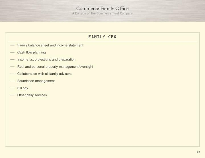 FAMILY CFO
