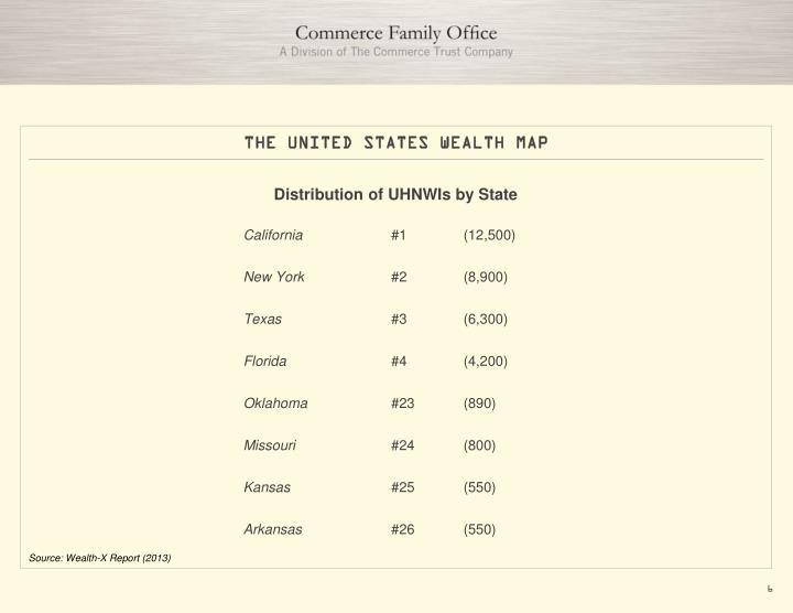 THE UNITED STATES WEALTH MAP