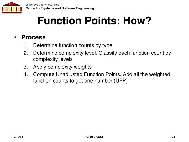 Function Points: How?
