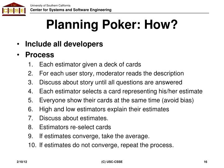 Planning Poker: How?