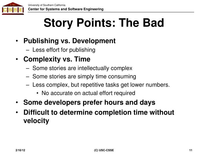 Story Points: The Bad