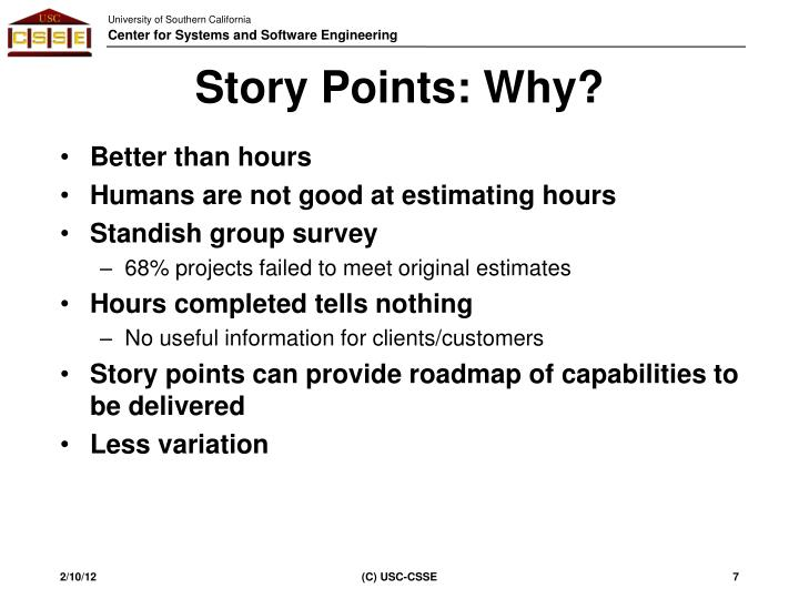 Story Points: Why?