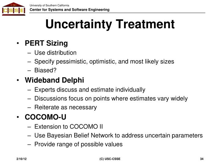 Uncertainty Treatment