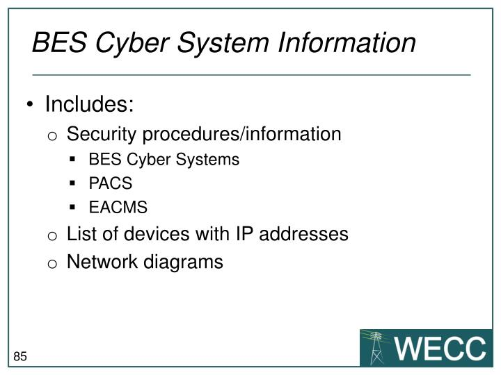BES Cyber System I