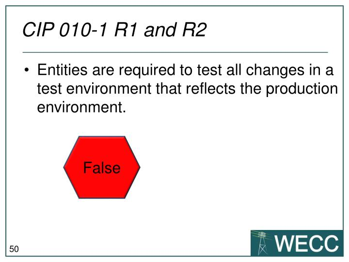 CIP 010-1 R1 and R2