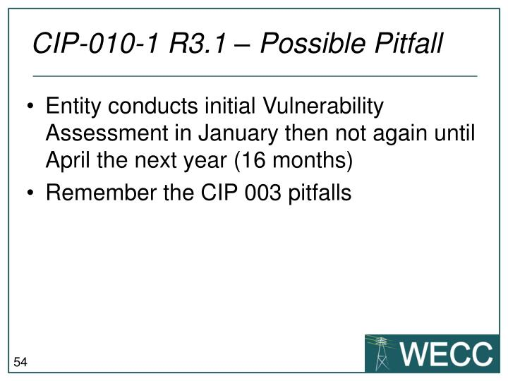 CIP-010-1 R3.1 – Possible Pitfall