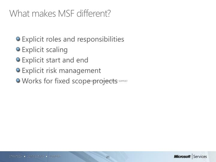 What makes MSF different?