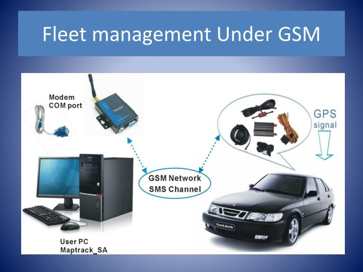 Fleet management Under GSM